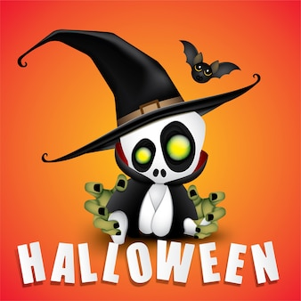Happy halloween party baby dracula.