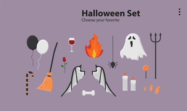 Felice festa di halloween sfondo carta da parati icona ottobre modello cartone animato modello zucca vettore