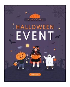 Poster di halloween felice.