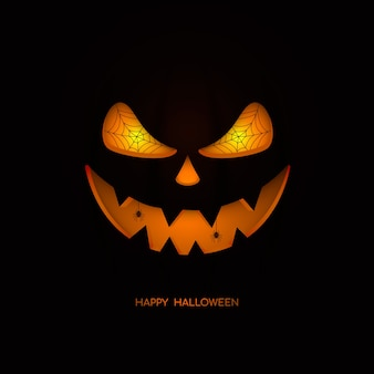 Felice halloween. faccia di zucca