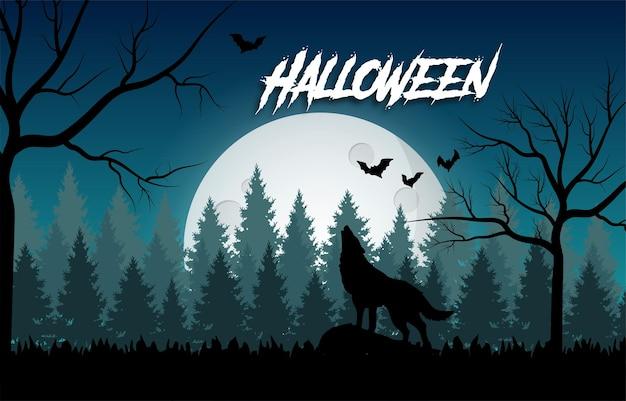 Happy halloween spaventoso design con cartellino nero e giallo