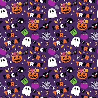 Insieme senza cuciture felice del fondo del modello di halloween