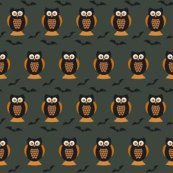 Happy halloween seamless pattern per carta da parati con stampa di t-shirt in tessuto di carta da imballaggio