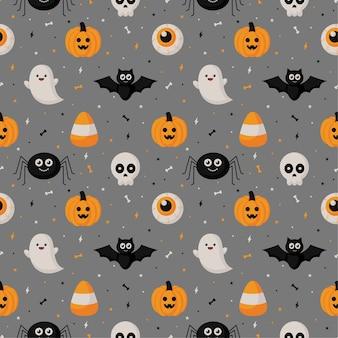 Felice halloween seamless pattern