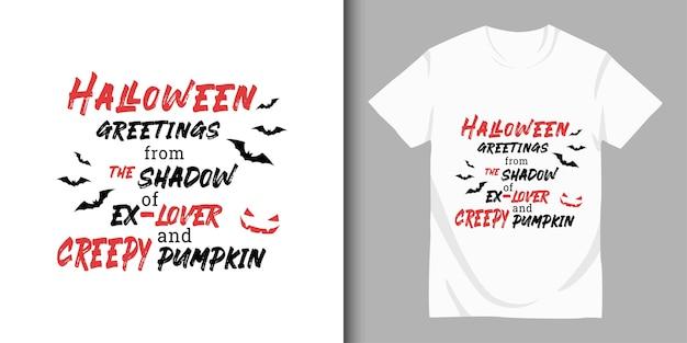 Felice halloween e design t-shirt
