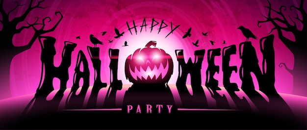 Felice banner di testo di halloween