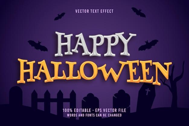 Effetto carattere modificabile con testo happy halloween