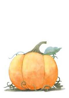 Felice halloween, acquerello zucca di halloween.