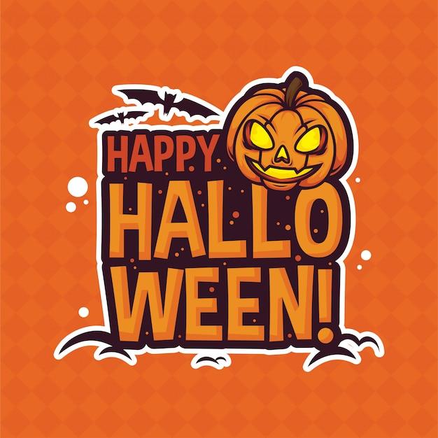 Happy halooween pumpkin