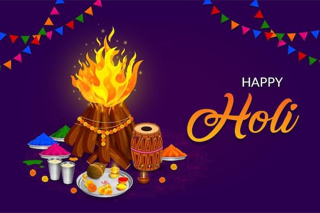 Saluto happy holi, festival dei colori