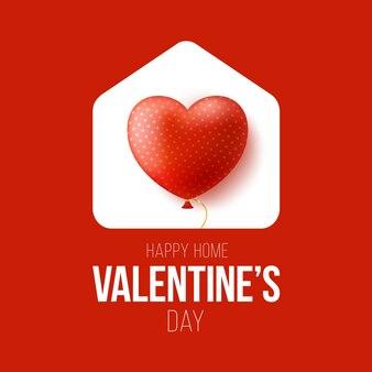 Happy home valentine day illustrazione