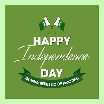 Felice giorno dell'indipendenza 14 agosto pakistan greeting card