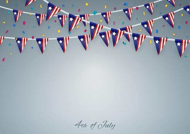 Felice giorno dell'indipendenza. 4 luglio.