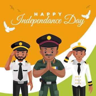 Modello di progettazione banner per il giorno dell'indipendenza felice