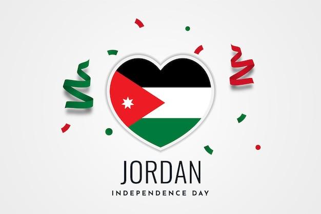 Felice giorno dell'indipendenza jordan illustrazione modello di progettazione