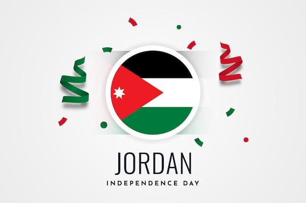 Felice giorno dell'indipendenza giordano illustrazione modello design happy