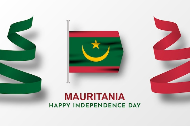 Felice festa dell'indipendenza mauritania celebrazione