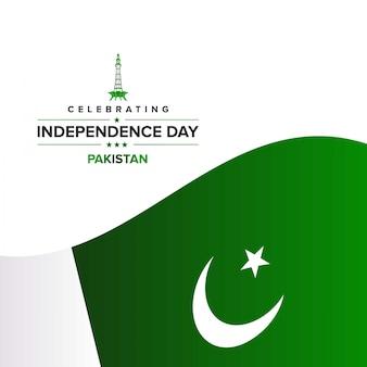 Felice giorno dell'indipendenza del pakistan