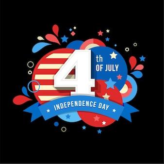 Felice giorno dell'indipendenza stati uniti d'america a luglio