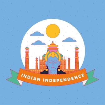 Felice giorno dell'indipendenza dell'india con krishna