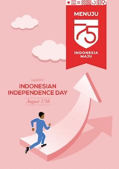 Felice festa dell'indipendenza indonesiana
