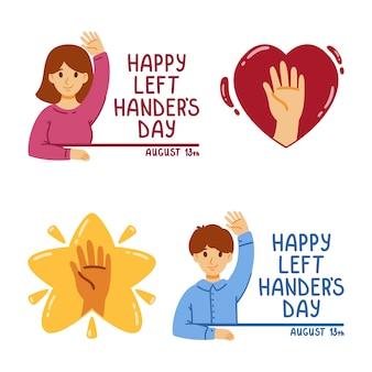 Felice giornata internazionale dei mancini. agosto. illustrazione