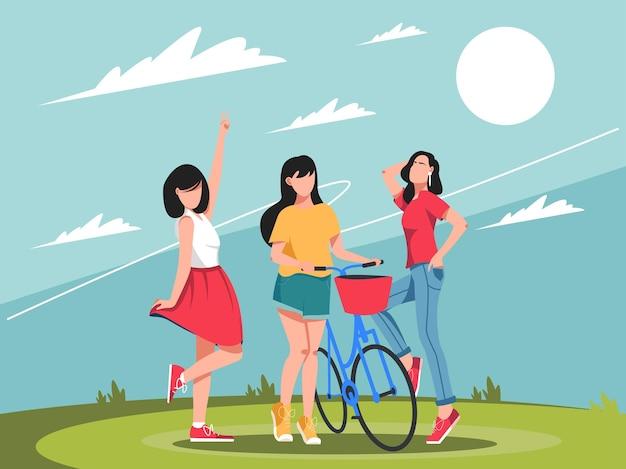 Giornata internazionale della donna felice che si riunisce