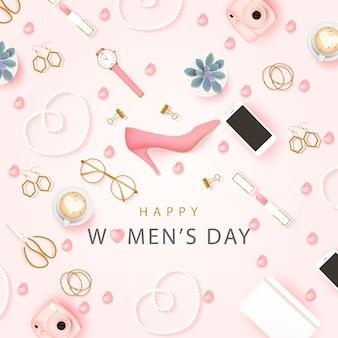 Felice giornata internazionale della donna sfondo