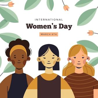 Buona giornata internazionale della donna Vettore Premium