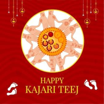 Modello di progettazione banner teej kajari felice