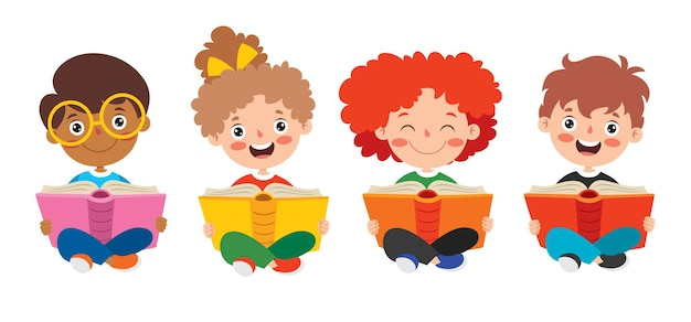 Bambino felice che studia e che apprende
