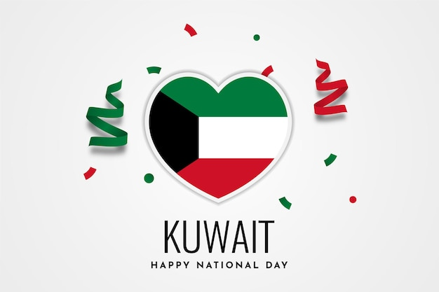 Disegno felice del modello dell'illustrazione di giorno nazionale del kuwait