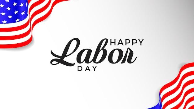 Felice festa del lavoro illustrazione vettoriale moderno sfondo felice festa del lavoro con bandiera dell'america