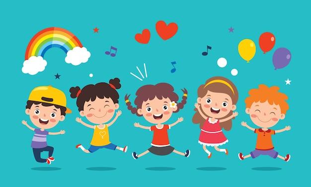 Piccoli bambini felici che hanno divertimento