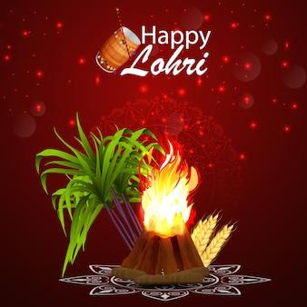 Sfondo di celebrazione felice lohri