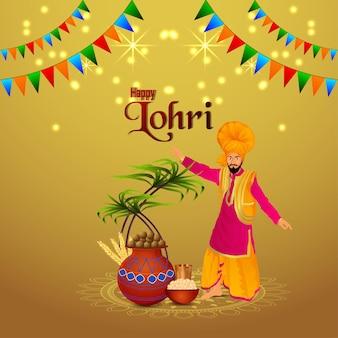 Celebrazione di lohri felice