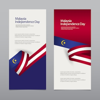 Bandiera di celebrazione del giorno dell'indipendenza della malesia felice