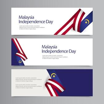 Modello creativo di celebrazione felice di festa dell'indipendenza della malesia