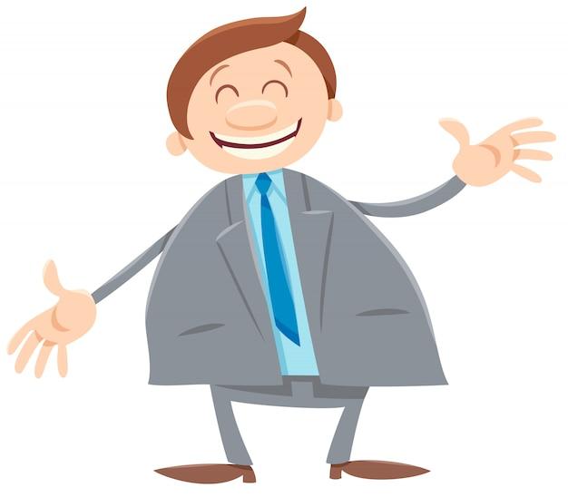 Felice uomo o uomo d'affari personaggio
