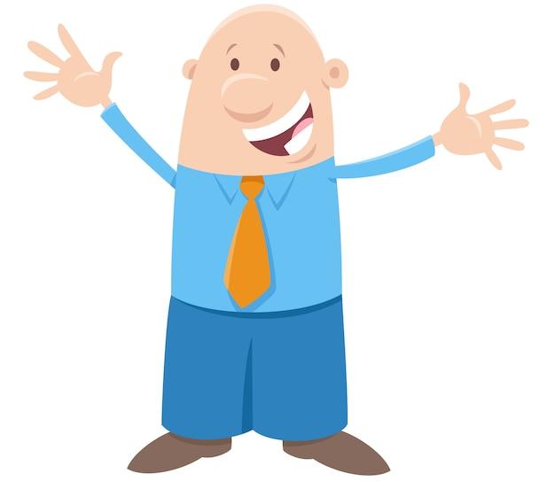 Carattere comico uomo o uomo d'affari felice