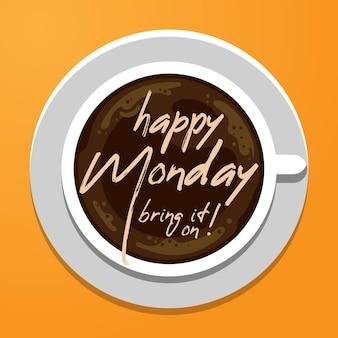 Fondo astratto di lunedì felice