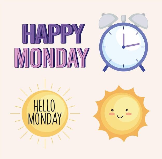 Buon lunedì icone