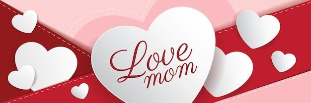 Felice festa della mamma banner design... illustrazione vettoriale