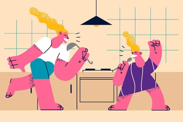 Illustrazione felice di celebrazione di giorno di madri