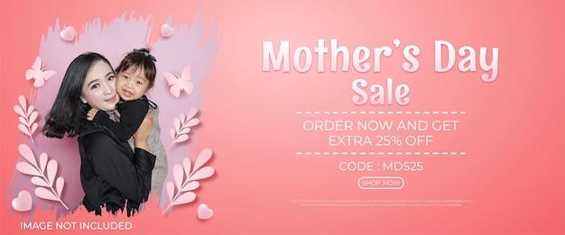 Banner di vendita felice festa della mamma