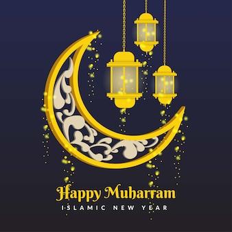 Felice muharram islamico anno nuovo sfondo