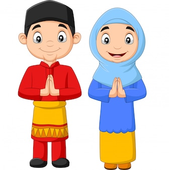 Fumetto musulmano felice dei bambini