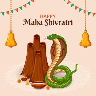 Felice festa indiana di naag panchami