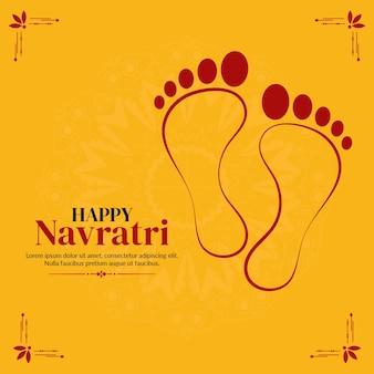Felice modello di progettazione banner festival indiano navratri