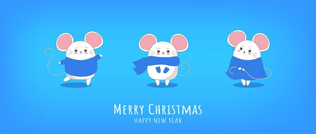 Happy new year 2020 chinese new year l'anno del mouse